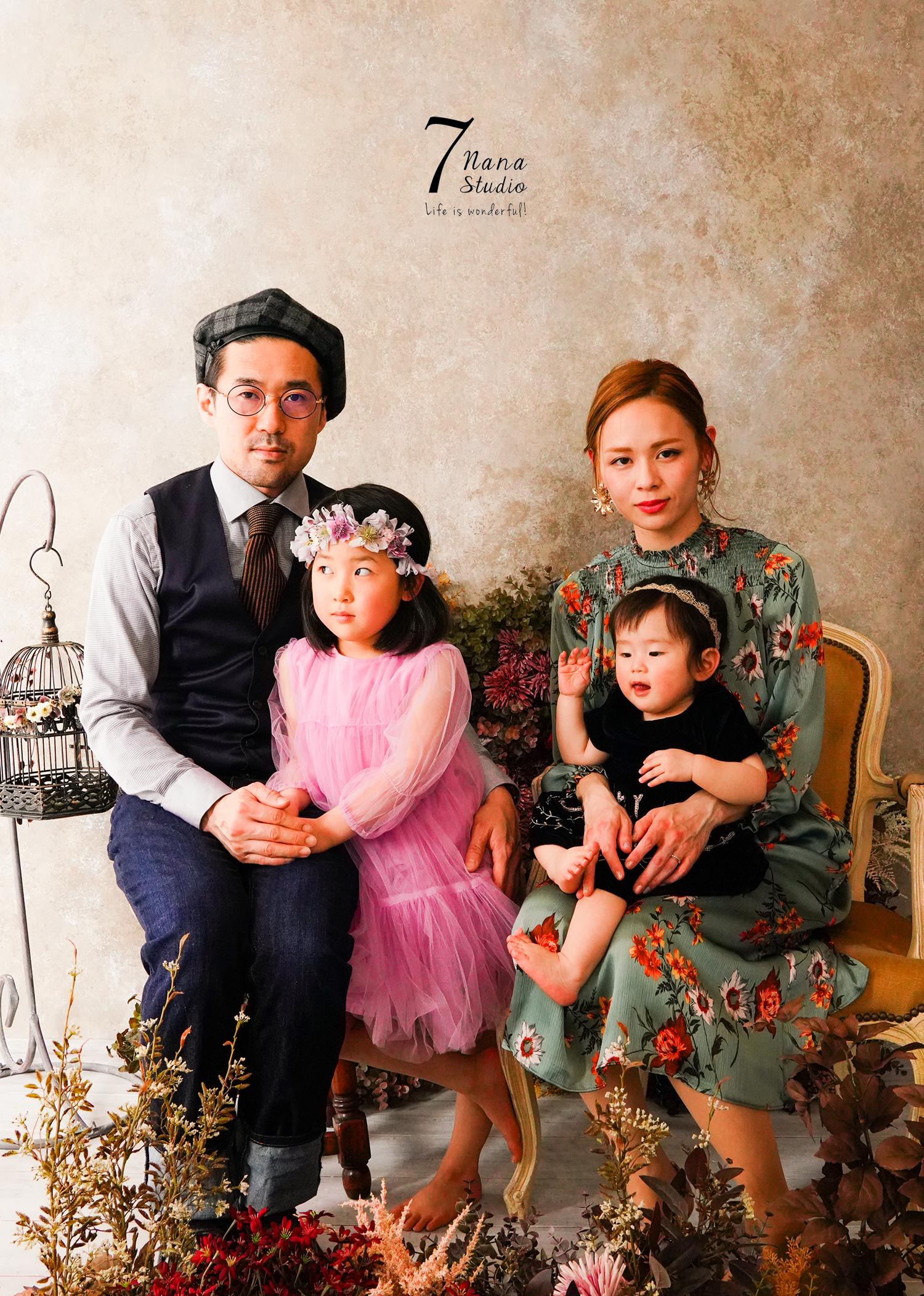 1歳バースデーフォトと家族。京都 家族写真