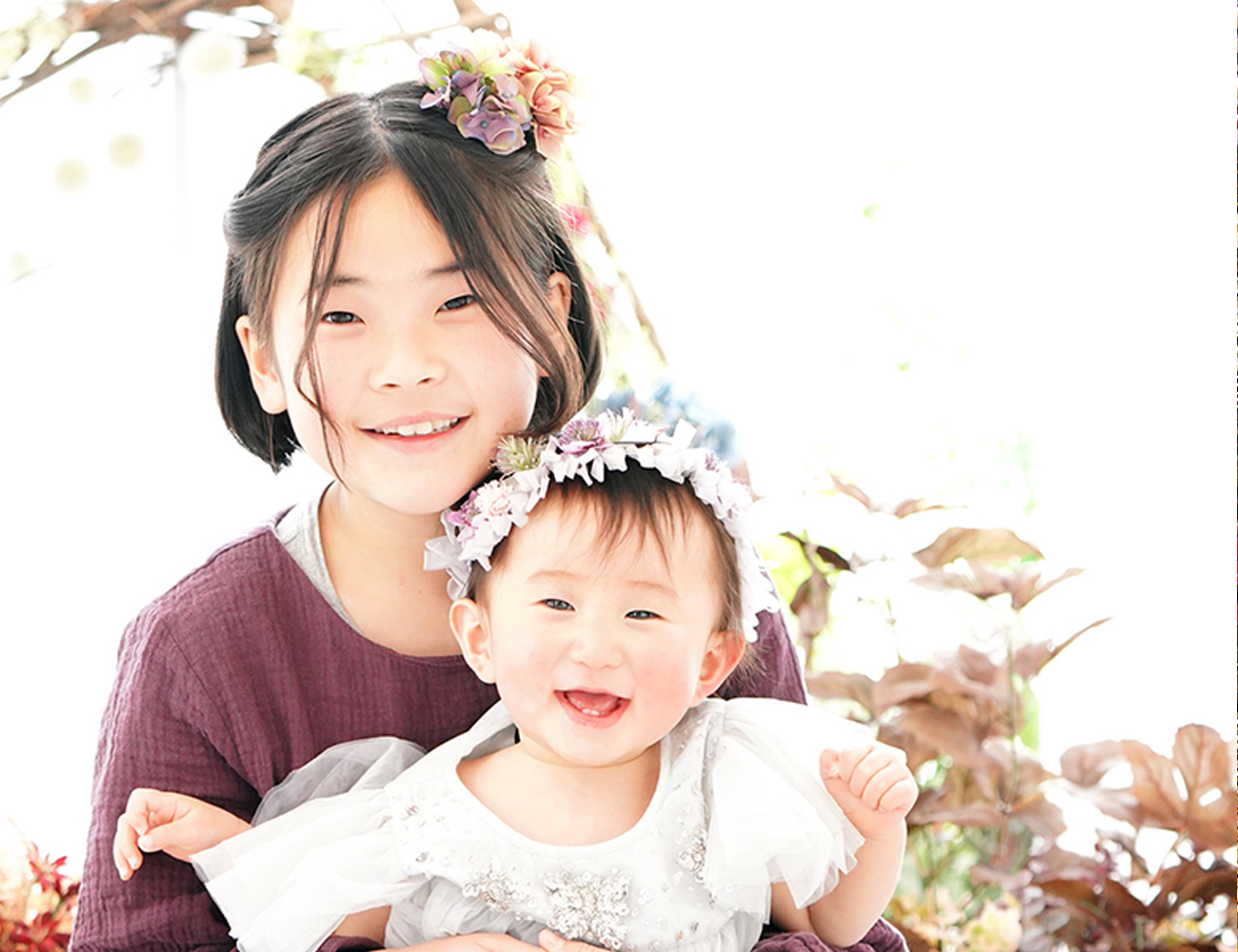 姉妹の記念写真