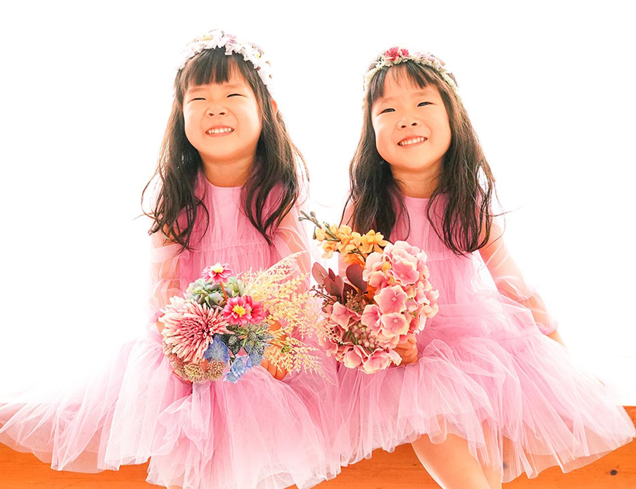 バースデーフォト 双子姉妹4歳
