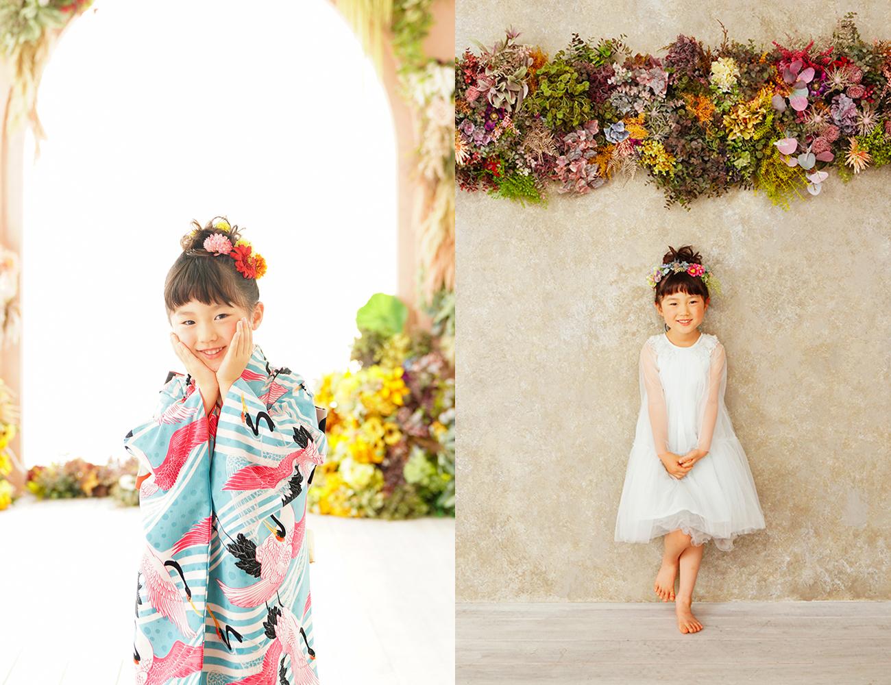 5歳さんのお着物での撮影。 京都フォトスタジオ 七五三